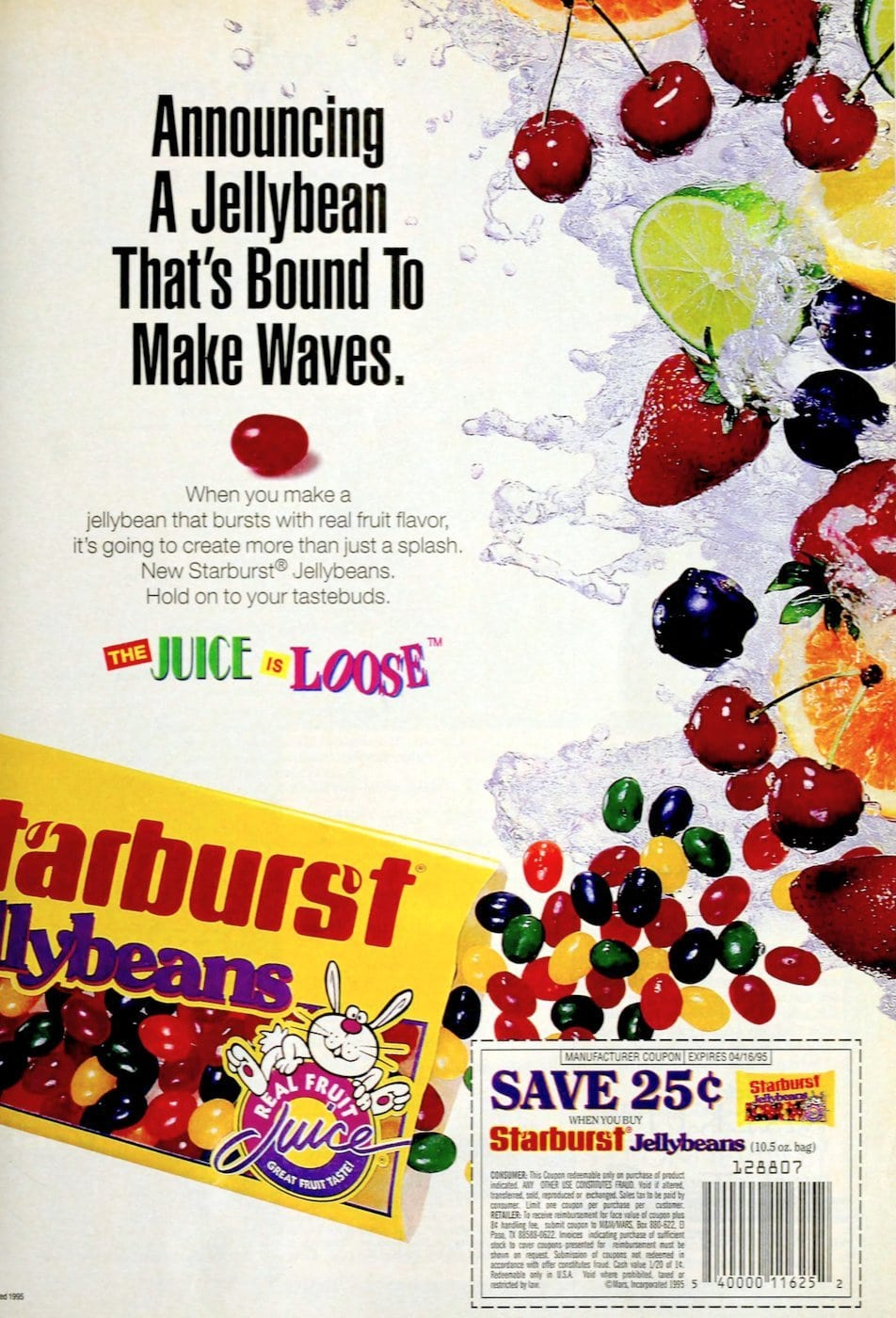 Mars Starburst jellybeans candy (1994)