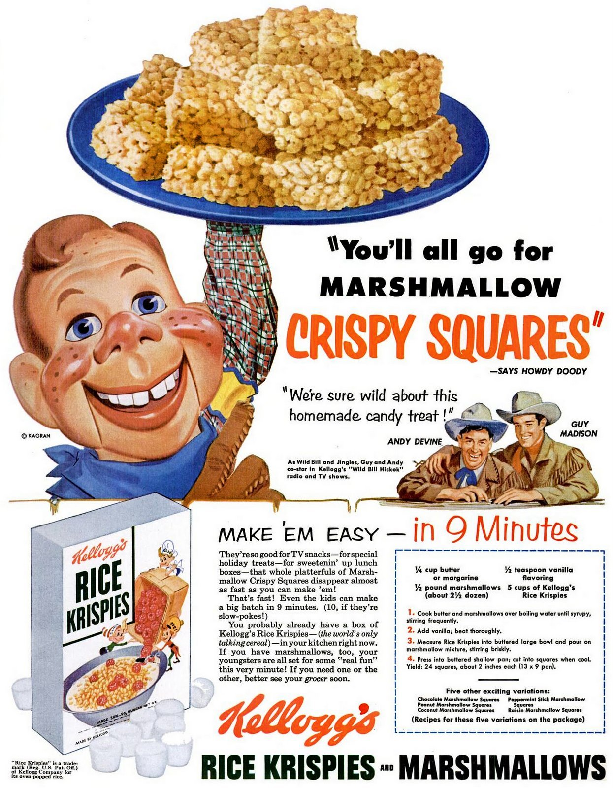 Howdy Doody: You'll all go for marshmallow crispy squares (1953)