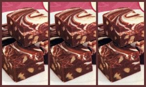 Marshmallow marble-top fudge A vintage recipe from the '80s