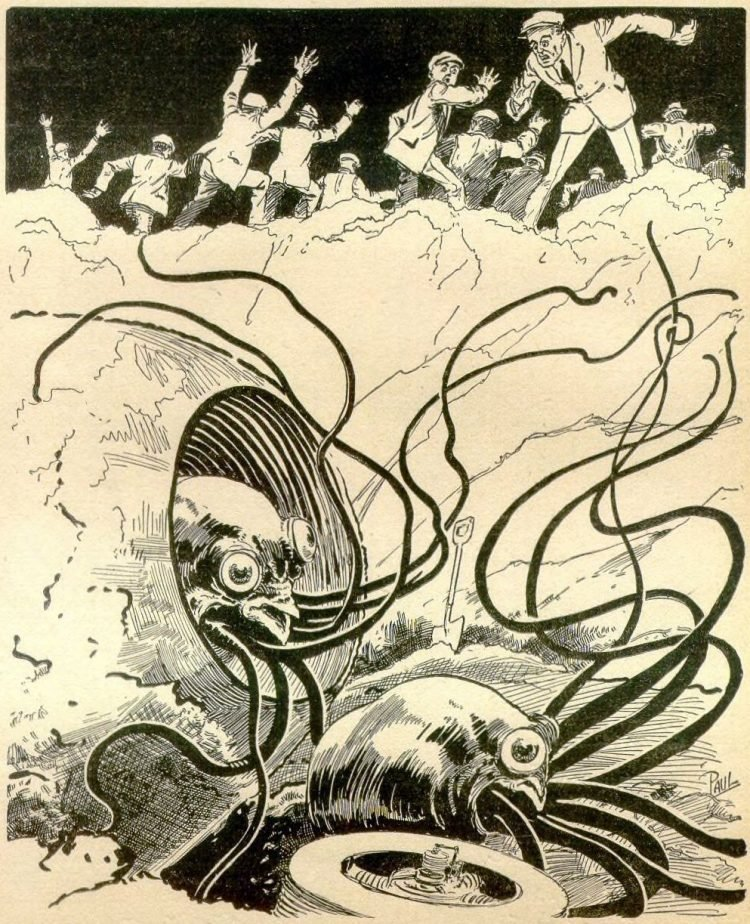 Martians from Mars - War of the Worlds - vintage art (1)
