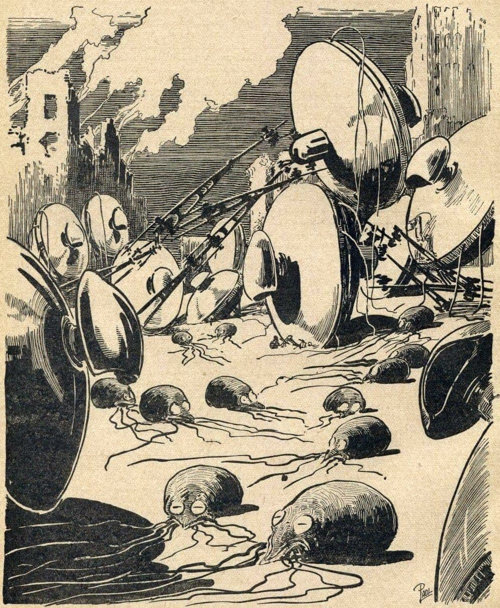 Martians from Mars - War of the Worlds - vintage art (2)