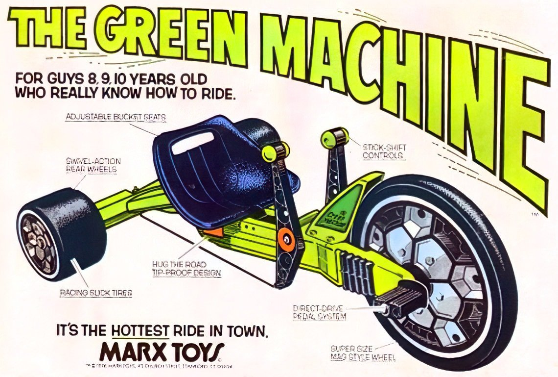 Marx The Green Machine - Vintage Big Wheel 1970s