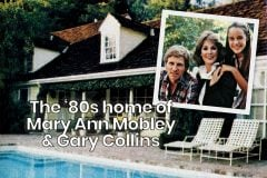 Mary Ann Mobley and Gary Collins at home 1982