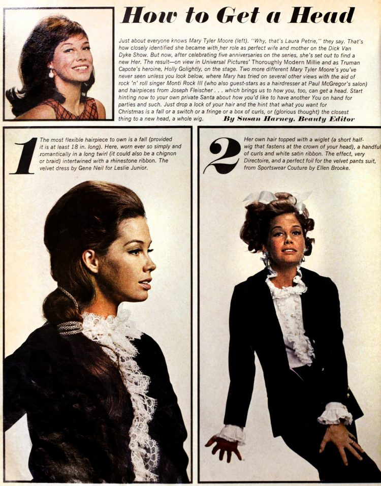 Mary Tyler Moore models the era's hottest wigs 1966 (1)