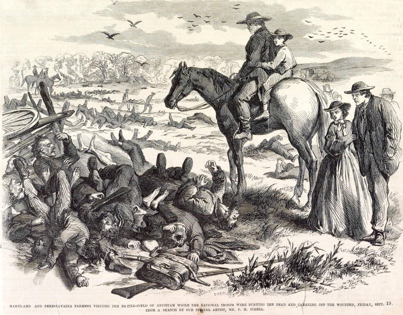 Maryland and Pennsylvania farmers visiting the battlefield of Antietam - Civil War (1962)