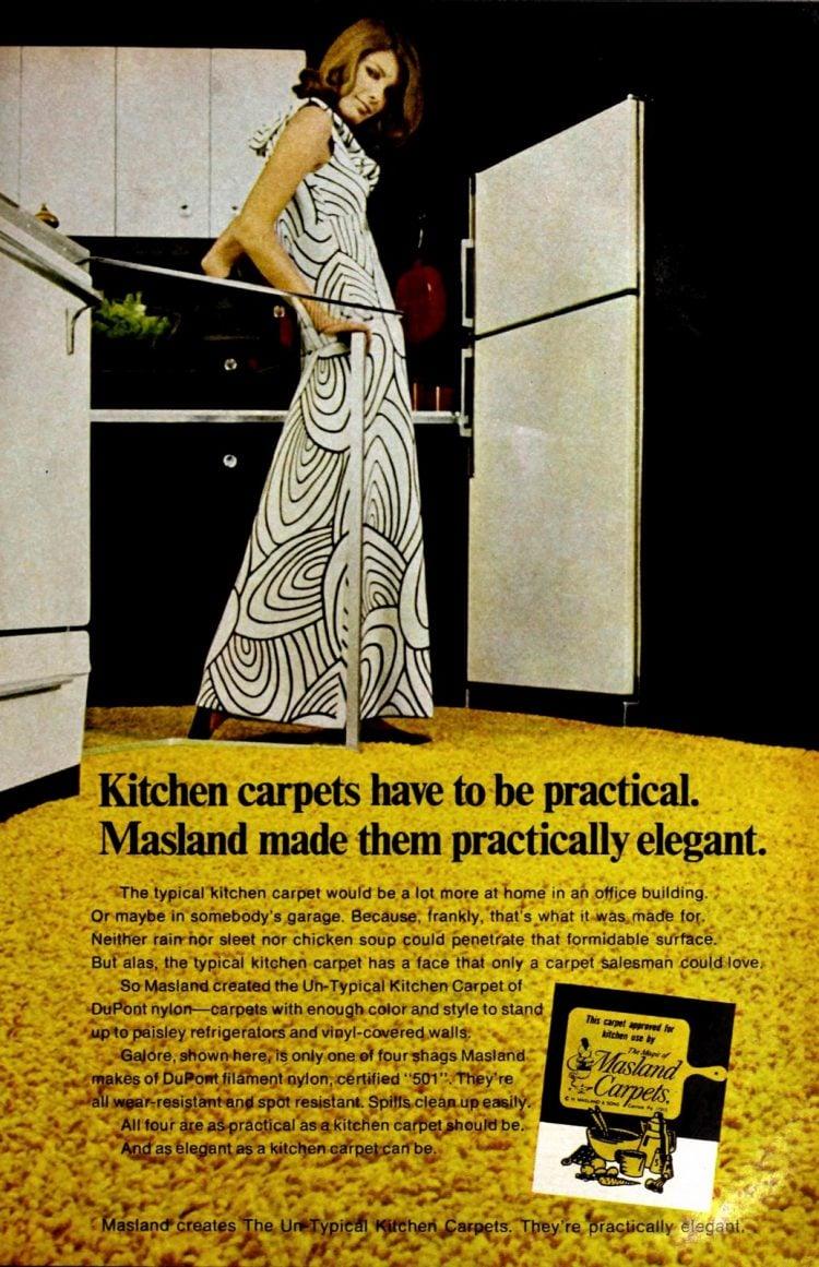 Masland kitchen shag carpets from 1969