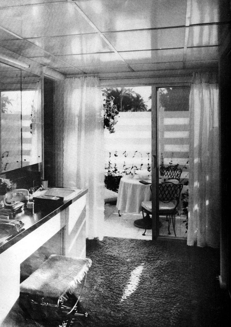 Master bath and patio - Vintage sixties Scholz Mark 60 house