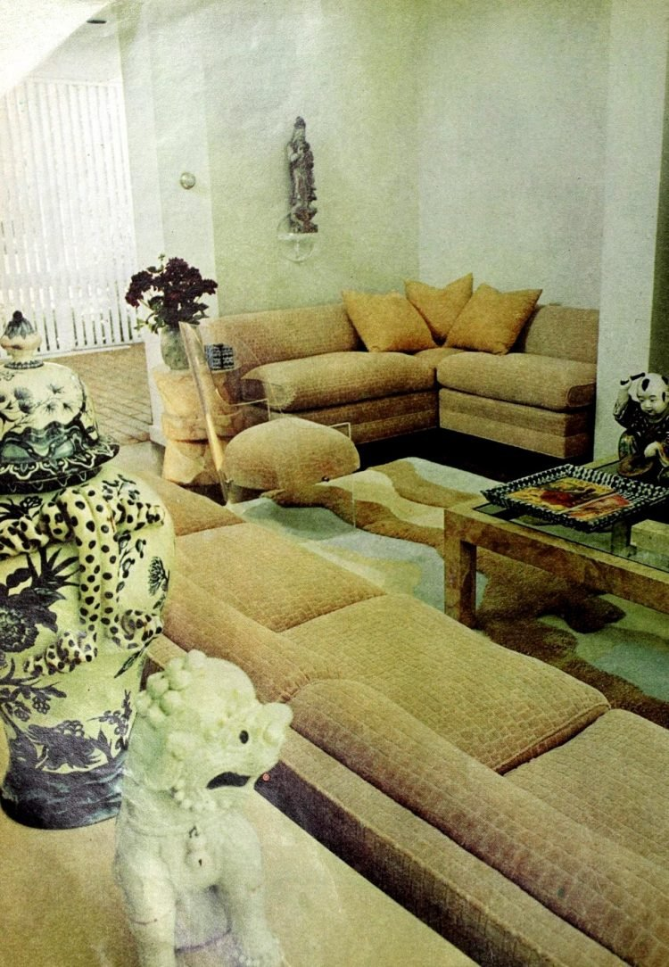 Matching vintage sectional sofas from the seventies