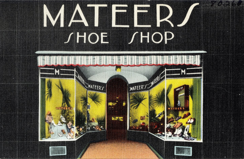 Mateer's Shoe Shop Kittanning PA (1930s-1940s)