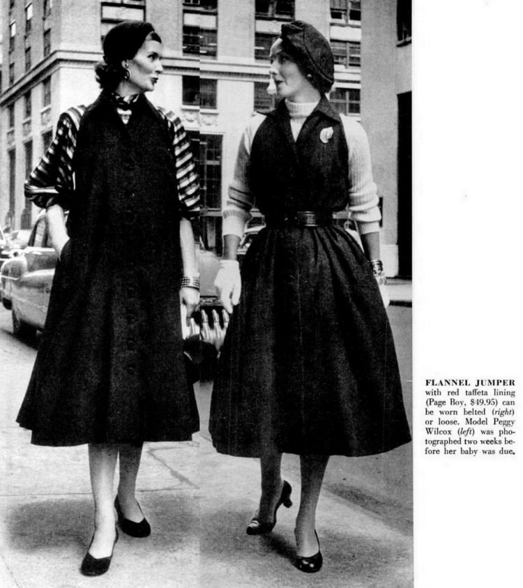 Maternity wear in the 50s - 1952 (1)