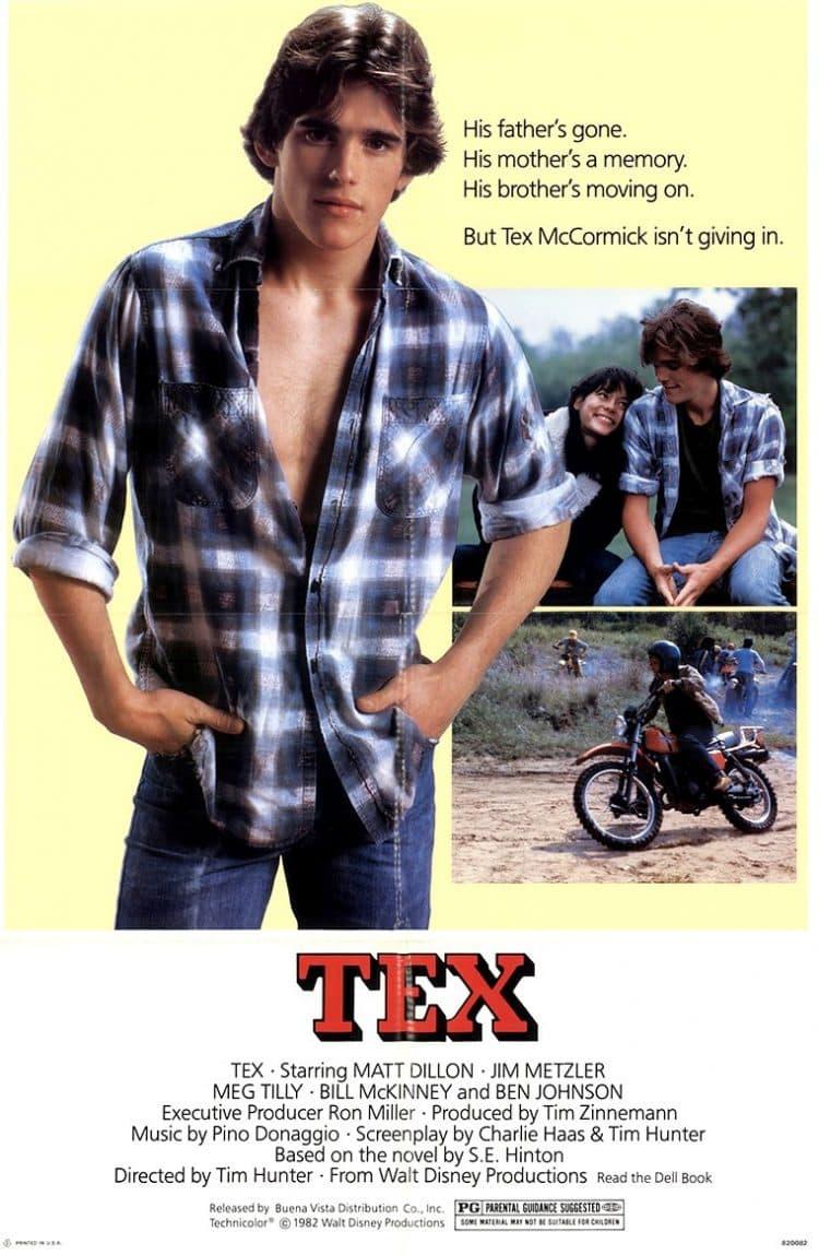 Matt Dillion Tex movie poster 1982 1983