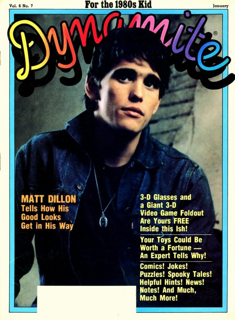 Matt Dillon Tells How His Good Looks Get in His Way (January 1983)