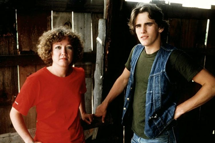 Matt Dillon and S E Hinton in 1982