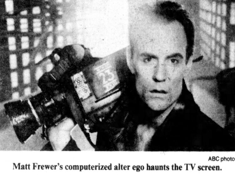 Matt Frewer as Edison Carter - Max Headroom vintage television from the 80s