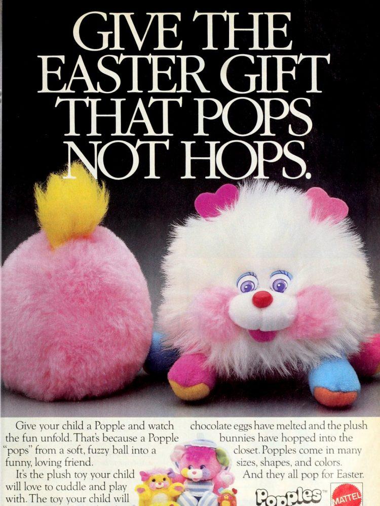 Mattel Popples plush toys (1987)