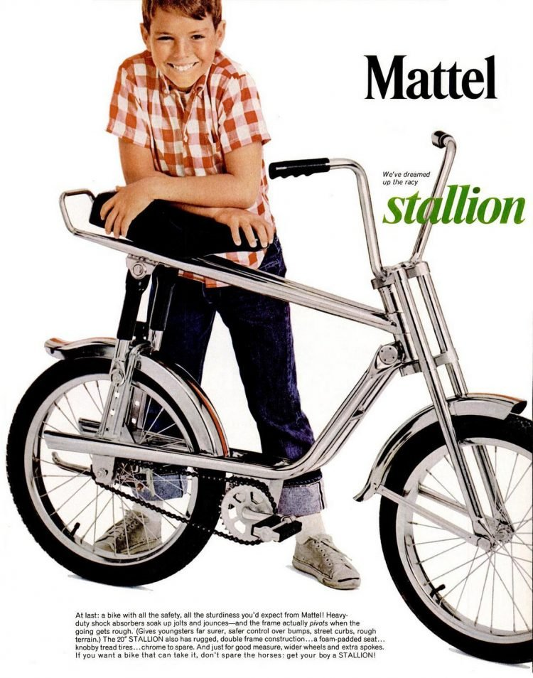Mattel Stallion bikes from 1965
