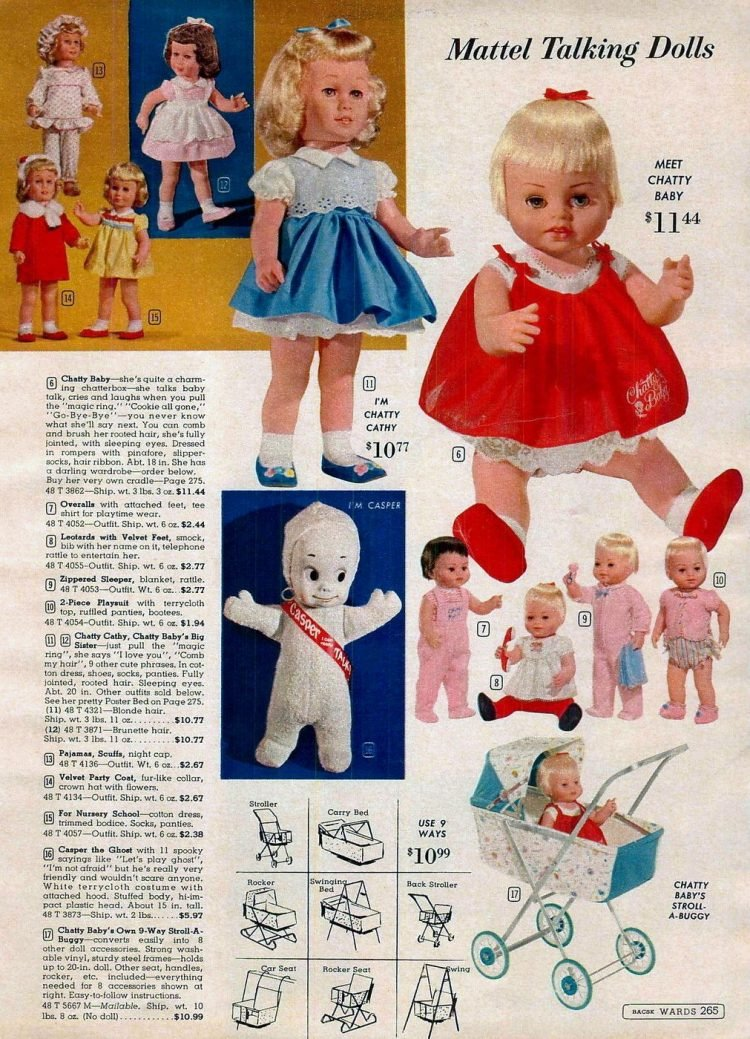 Mattel talking dolls from 1963