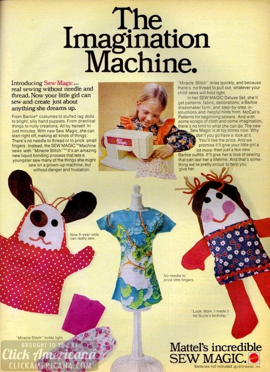 Mattel's incredible Sew Magic 1973