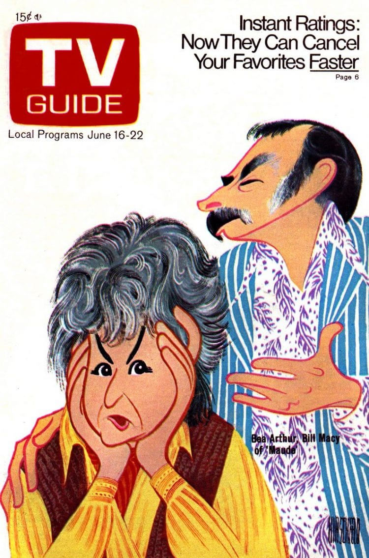 Maude - Be Arthur on vintage TV Guide magazine cover