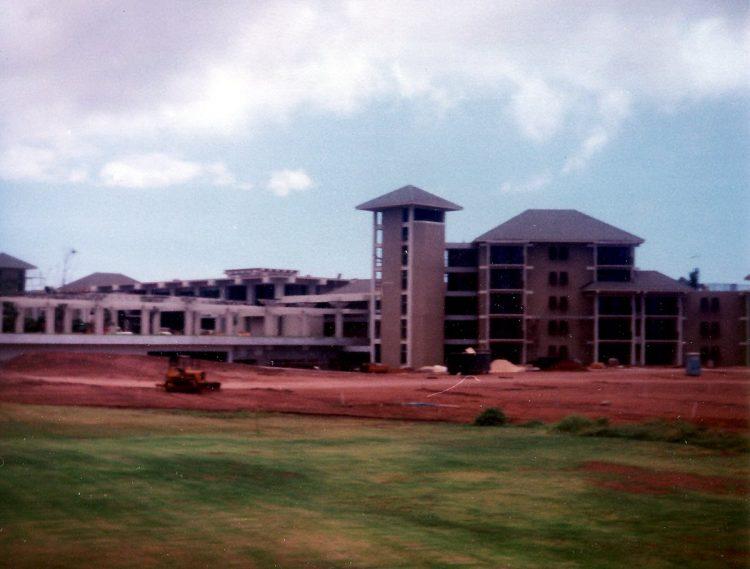 Maui Hawaii - The old Kapalua Bay Hotel under construction - 1970s