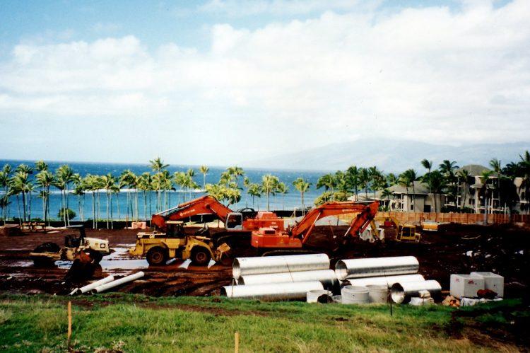 Maui Hawaii - The original Kapalua Bay Hotel under construction - 1970s (2)