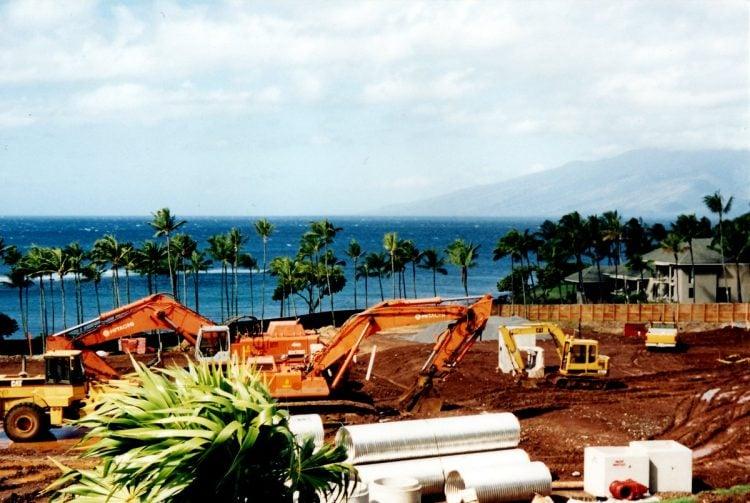 Maui Hawaii - The original Kapalua Bay Hotel under construction - 1970s (3)