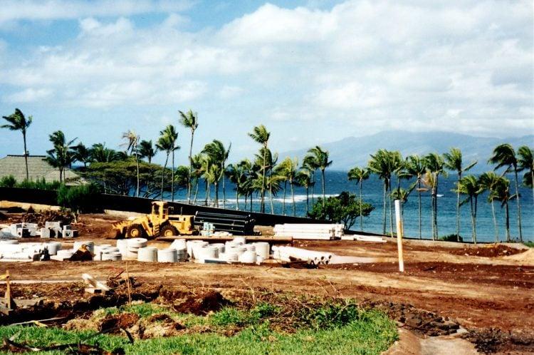 Maui Hawaii - The original Kapalua Bay Hotel under construction - 1970s (4)