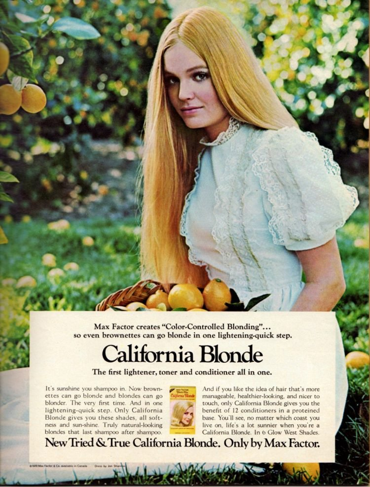 Max Factor California Blonde hair lightener - 1970