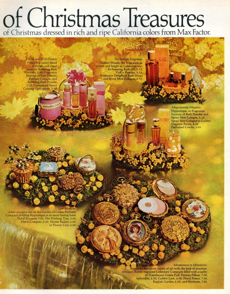 Max Factor garden gift sets in California colors from 1970 (1)