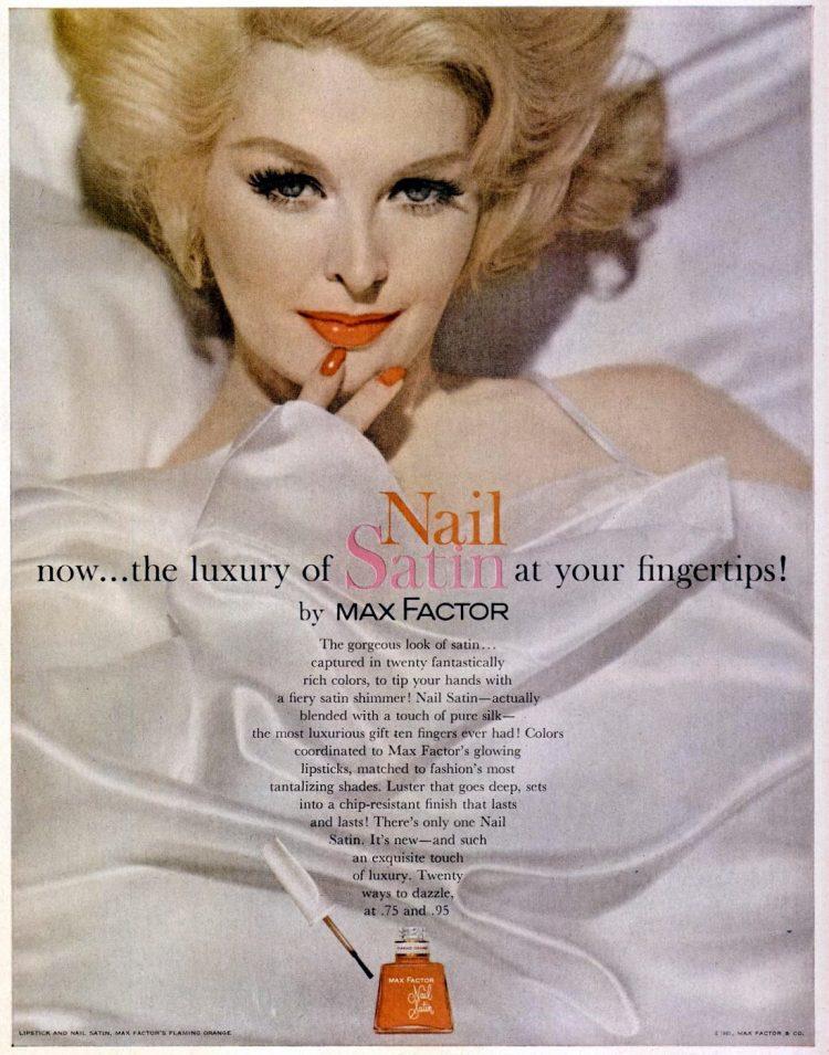 Max Factor nail satin nail polish 1961