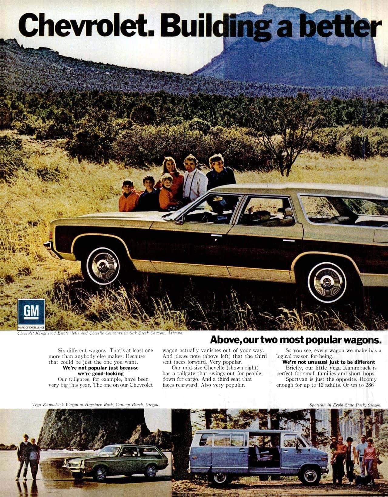 1972 Chevrolet station wagon cars