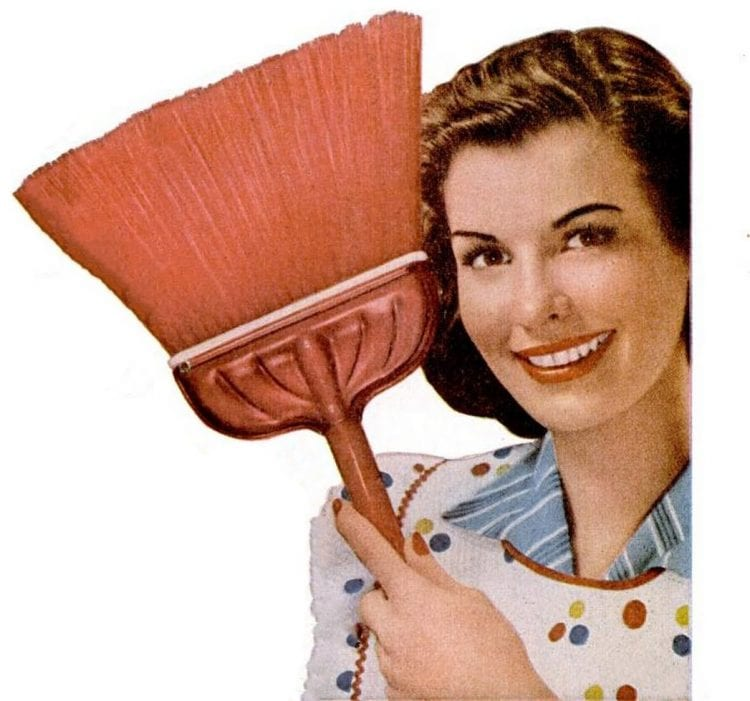 May 18, 1953 Broom housewife cleaning
