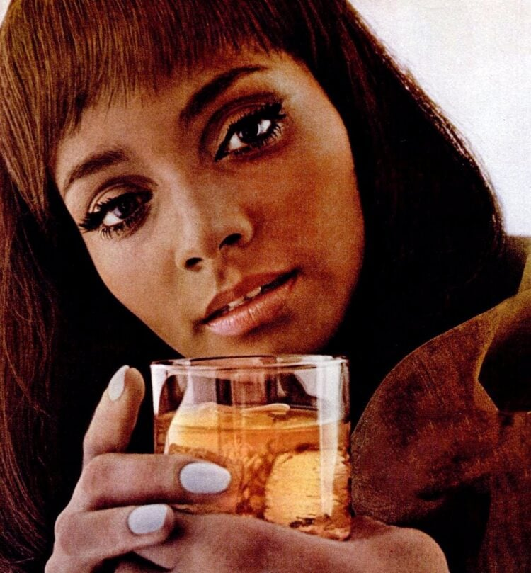 May 1968 woman with scotch drink