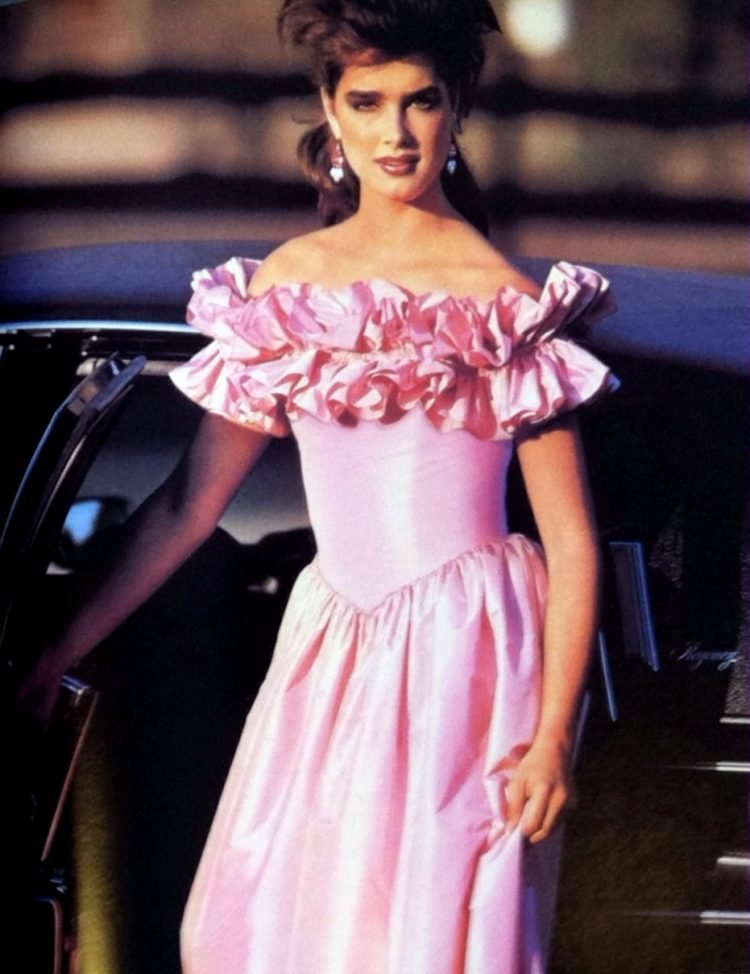 May 1984 Brooke Shields prom dress