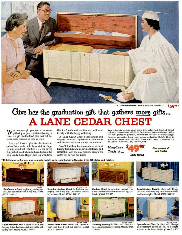May 2, 1955 hope chest