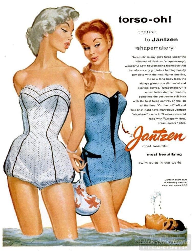 Jantzen swimsuits from 1955