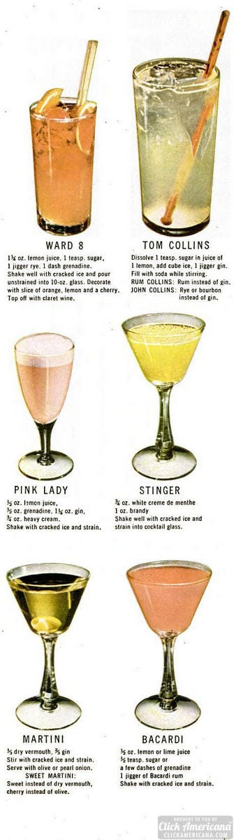 How to make 30 classic cocktails & drinks (1946)