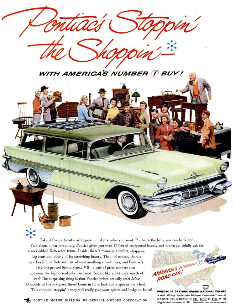 May 27, 1957 Pontiac station wagon