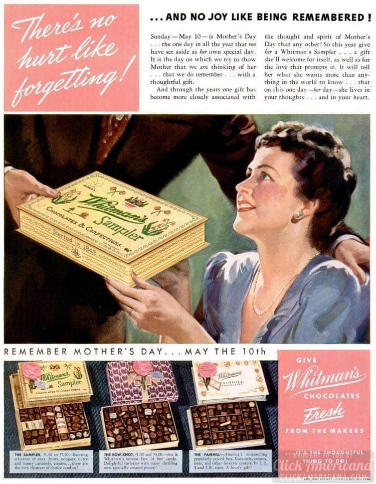 May 4, 1942 chocolates for Mother's Day