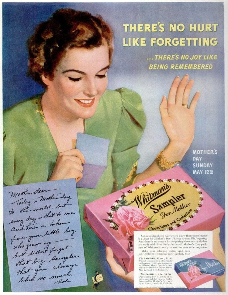May 6, 1940 Mother's Day candy
