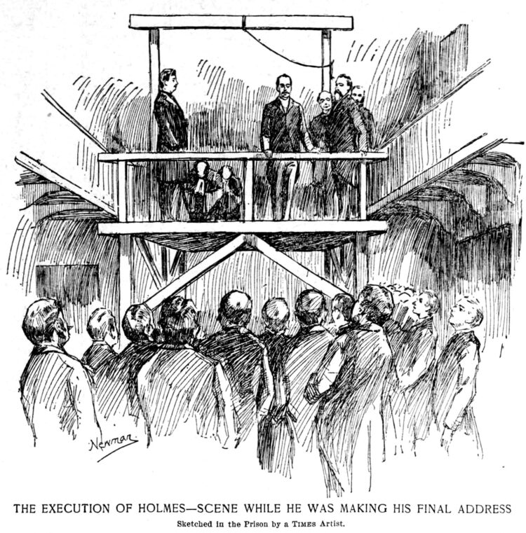 May 8 1896 - H H Holmes execution scene