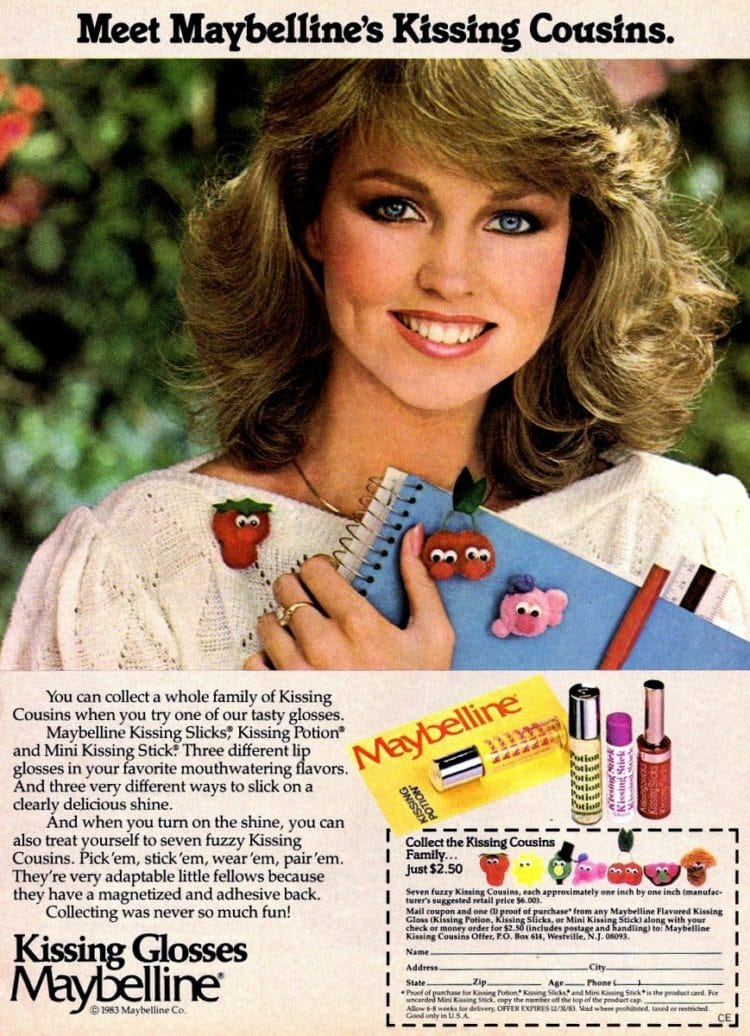 Maybelline Kissing Slicks! Kissing Potion and Mini Kissing Stick - vintage from 1983