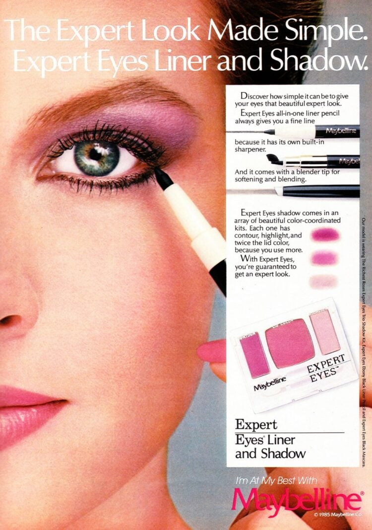 Maybelline makeup from 1985 - Purple eyeshadow