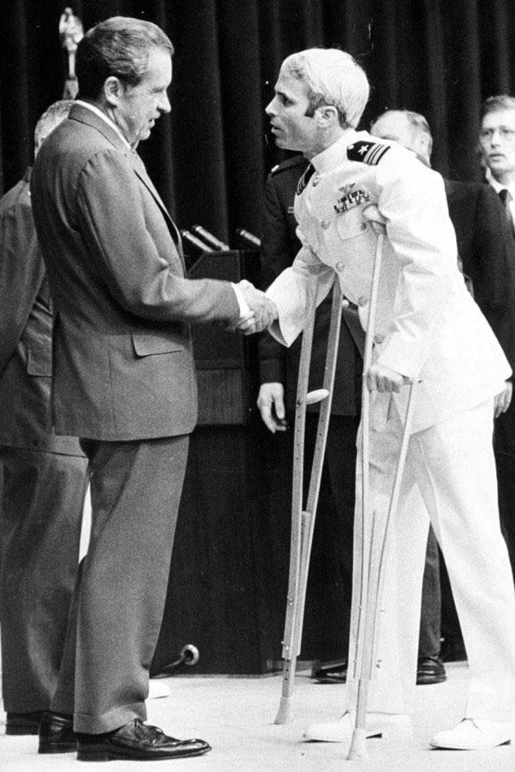 McCain and NIxon - 1973