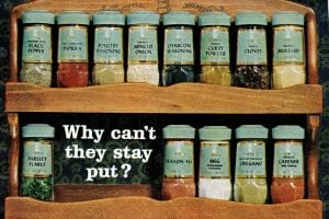McCormick spice rack from 1964