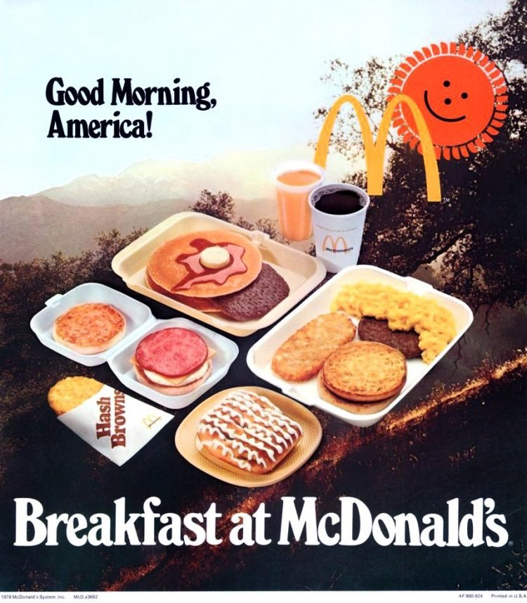 McDonald's breakfast food - 1978