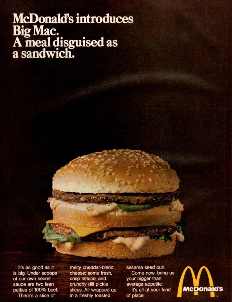 McDonalds introduces the Big Mac-march-1969