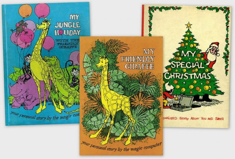 Me Books Cute vintage computer-personalized storybooks from the seventies