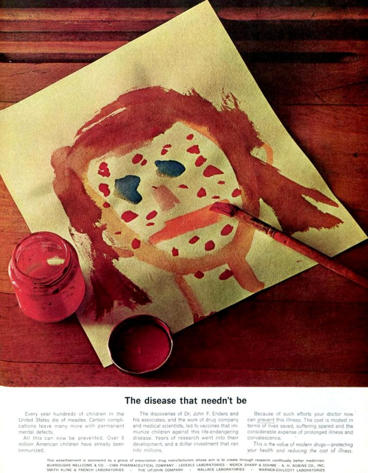 Measles vaccine child's painting - 1965