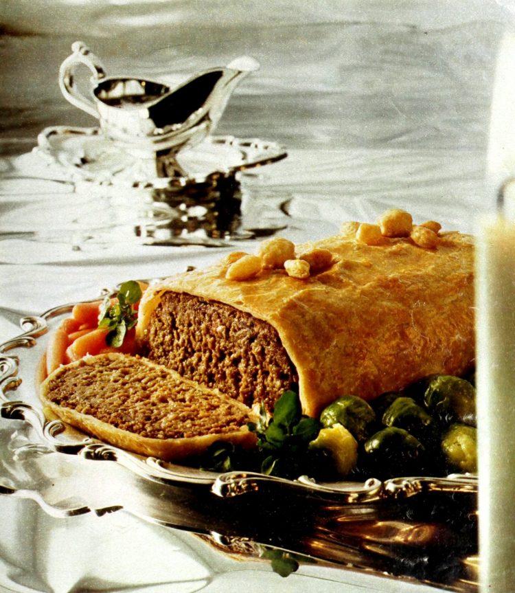 Meatloaf Wellington vintage recipe from 1974